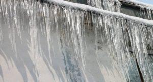 roof leak snow dam